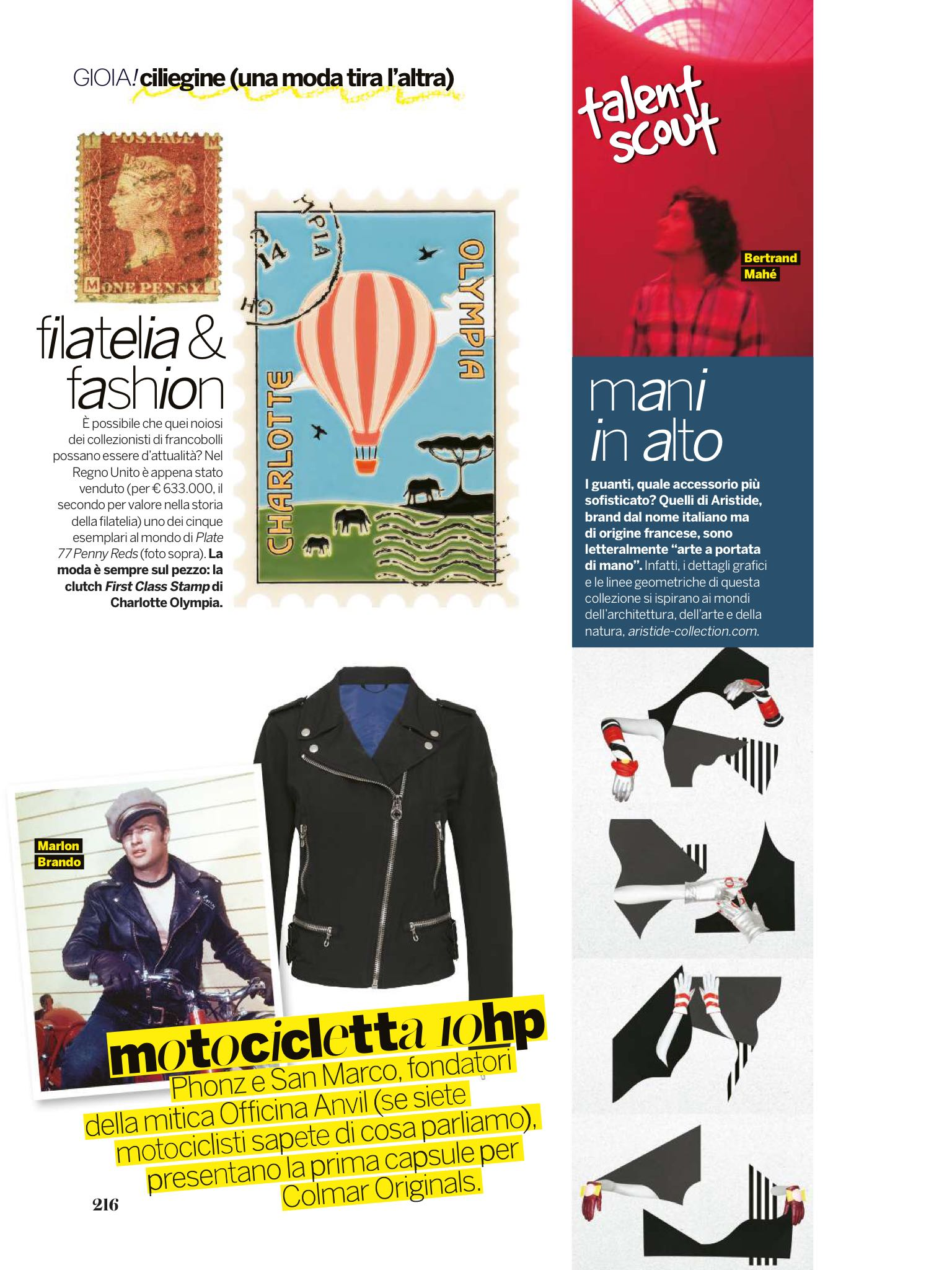 Aristide Gloves on GIOIA! Magazine